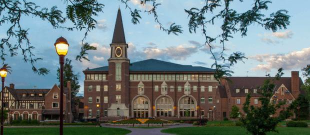 Campus da Universidade de Denver, nos EUA