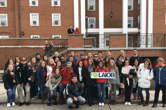 turma de estudantes de curso de curta duração da LAIOB